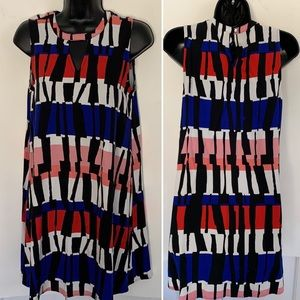 Slip sheath dress easy/light/comfy modern graphic